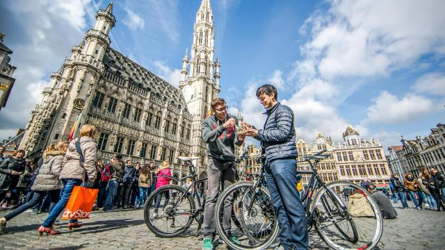 Touristes à Bruxelles